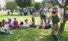 Niños rinden homenaje a Santa Rosa de Lima con lectura al aire libre