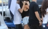Justin Bieber visita a Selena Gómez en el set de Feed The Dog [FOTOS]