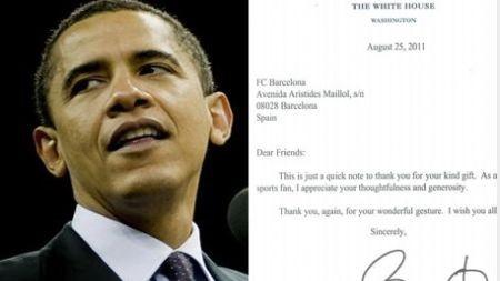 Barack Obama envió carta al Barcelona