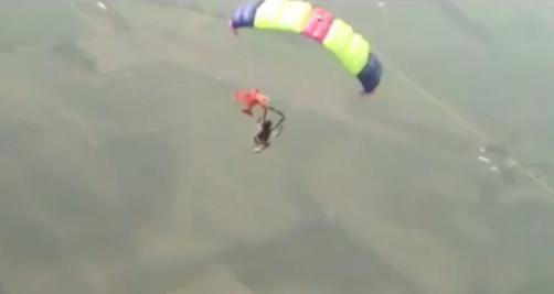 Video de paracaidista que grabó su propio accidente es furor en Youtube