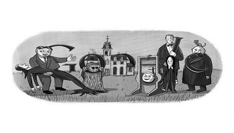 Google homenajea al creador de la familia Addams con un simpático doodle