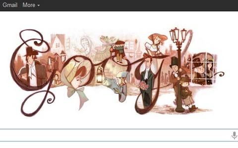 'Doodle' de Google rinde homenaje al escritor Charles Dickens