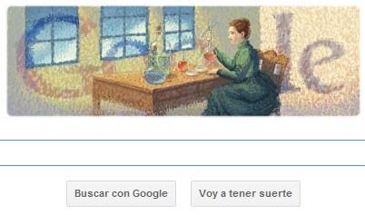 'Doodle' de Google rinde homenaje a Marie Curie