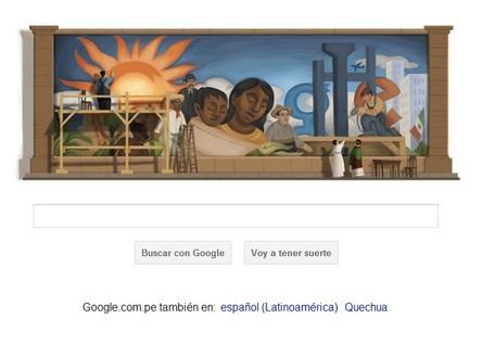 Google homenajea con un doodle al pintor Diego Rivera