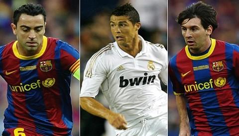 Messi, Xavi y Ronaldo luchan hoy por el Balón de Oro