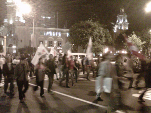 'Marcha Conga no va' se realizó sin inconvenientes en Miraflores