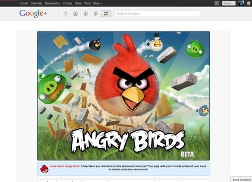 Google+ coloca juegos sociales en su página de inicio