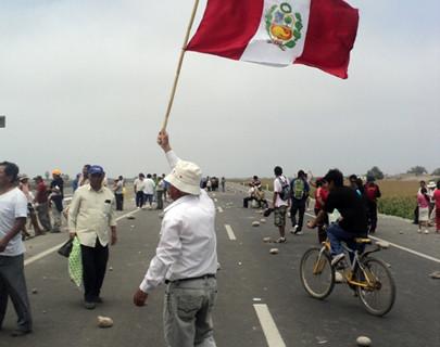 Nueva protesta en Santiago de Chuco
