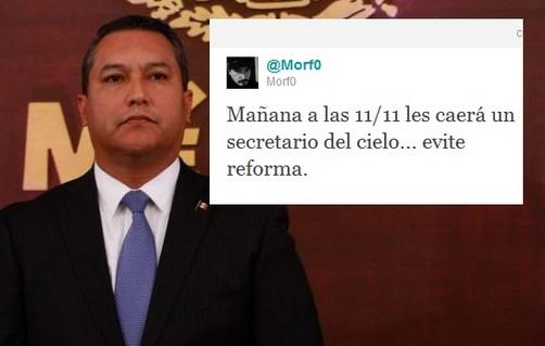 'Tuitero' presagió la muerte del ministro mexicano Francisco Blake