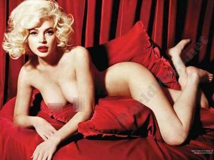 Lindsay Lohan desnuda como Marilyn Monroe