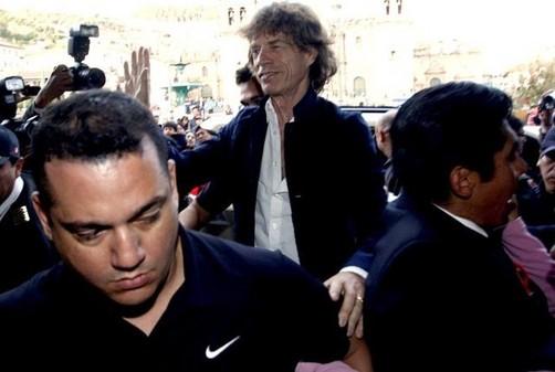 Mick Jagger visitará hoy Machu Picchu