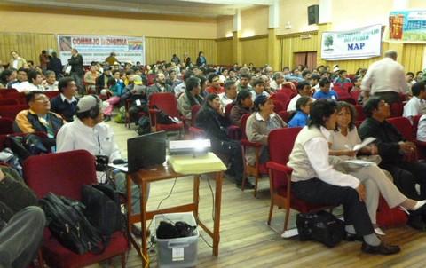 Se inició el primer día de la Asamblea Nacional de los Pueblos del Perú en Cajamarca