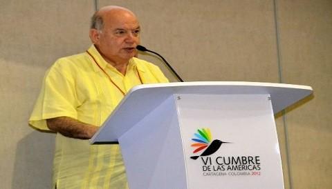 José Miguel Insulza propone estrategia conjunta contra narcotráfico y crimen organizado