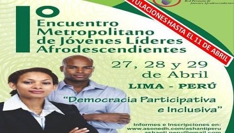 Líderes afrodescendientes participan en encuentro en Lima