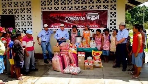 Petroperú entregó ayuda a afectados por las inundaciones en Loreto