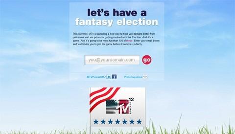 MTV crea juego online 'Fantasy Election'