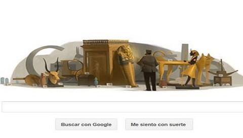 Google homenajea al arqueólogo inglés Howard Carter con un doodle