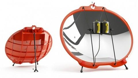 Cocina portátil que utiliza energía renovable