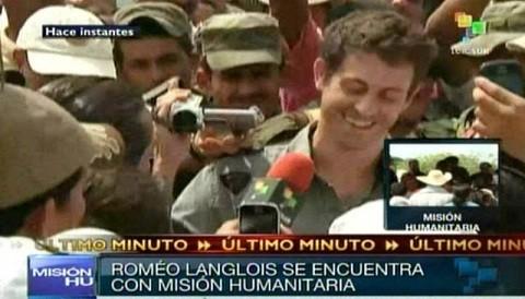 Las FARC liberó al periodista francés Romeo Langlois