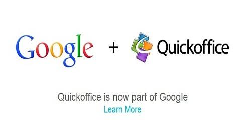 Aplicación Quickoffice es ahora propiedad de Google