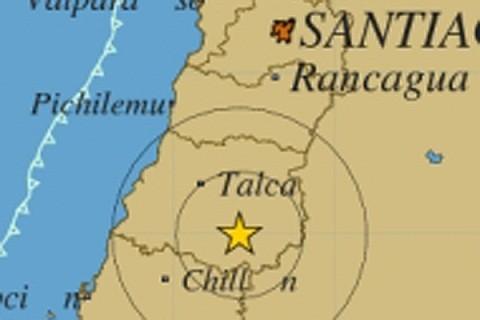 Movimiento sísmico de 5,7 grados Richter se sintió en Chile