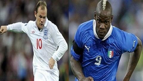 [FOTOS] Eurocopa 2012: Wayne Rooney y Mario Balotelli se vern las caras en el duelo de hoy