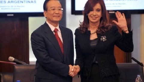 Argentina: Cristina Fernández recibió la visita del primer ministro chino Jiabao
