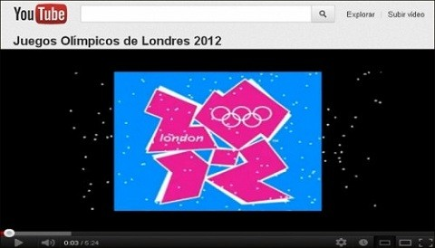 YouTube transmitir en vivo los Juegos Olmpicos de Londres 2012