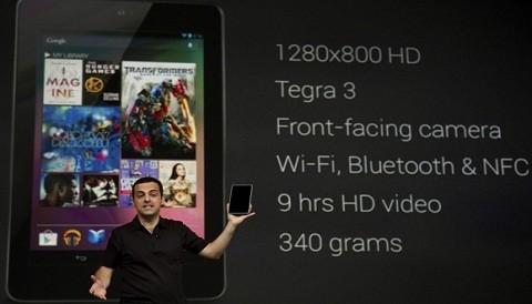 Google lanza su tableta Nexus 7 a menos de 200 dólares