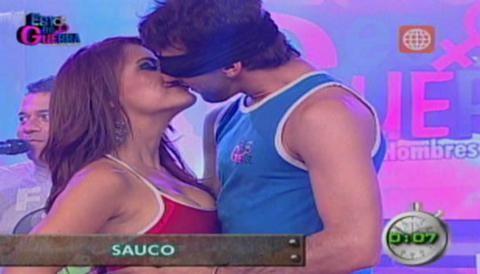Esto es Guerra: Melissa Loza es besada por novio de Sheyla Rojas