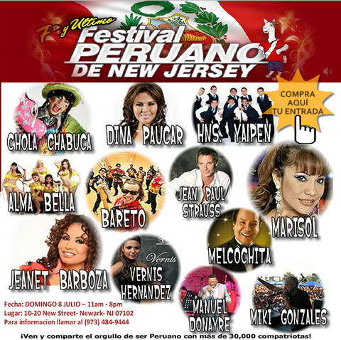 Festival Peruano de Nueva Jersey: Hermanos Yaipén, Dina Paúcar, Marisol, Bareto, Miki Gonzáles este domingo 8 de julio