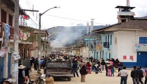 Celendín: protestantes incendiaron municipio