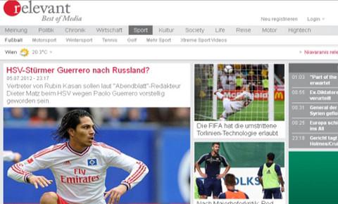 Paolo Guerrero es pretendido el por Rubin Kazan de Rusia