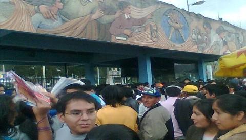 Cerca de 250 alumnos toman la Universidad Nacional de Cajamarca