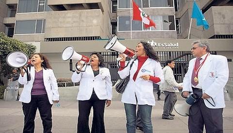 Médicos del Ministerio de Salud realizan paro de 48 horas en todo el país