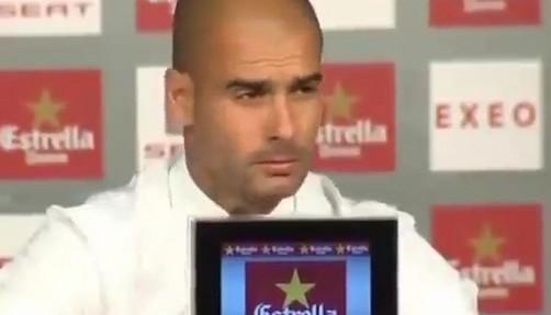 Pep Guardiola pasó un susto en plena conferencia de prensa