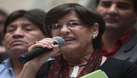 Susana Villarán por pintas a monumento: rechazo los actos vandálicos