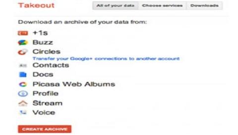 Nueva herramienta de Google+ traslada datos de una cuenta a otra