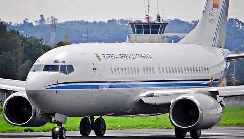 Avión presidencial de Colombia presentó una falla en tierra a minutos de su despegue