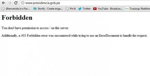 Anonymous Perú se atribuyó el hackeo de la página de la presidencia