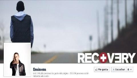 Eminem el más popular en Facebook