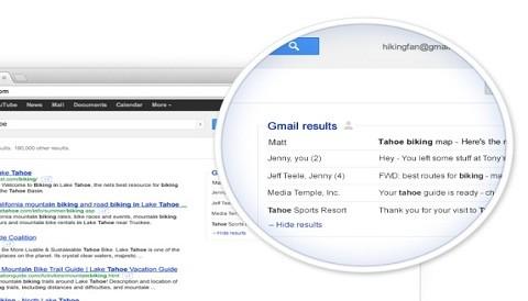 Correos en Gmail aparecerán en resultados de búsqueda de Google