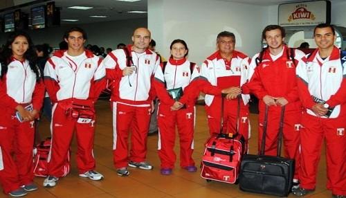 Atletas peruanos llegaron a Lima luego de participar en los Juegos Olímpicos
