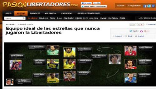 Paolo Guerrero en el once ideal de las estrellas que nunca jugaron la Copa Libertadores