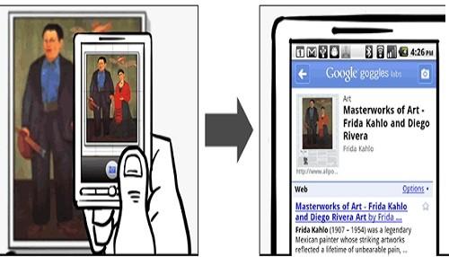 Aplicación de compras Google Goggles para Android se actualiza