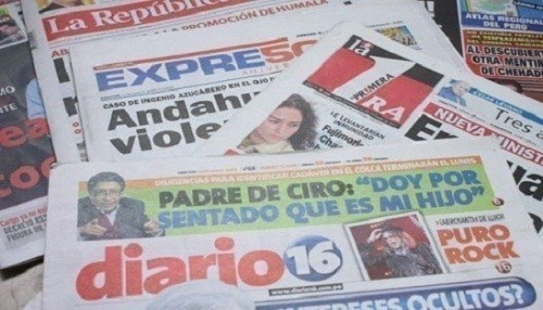 Conozca las portadas de los diarios peruanos para hoy jueves 6 de setiembre