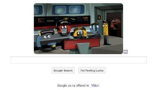 Google dedica doodle a Star Trek: La Serie Original