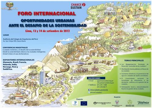 Foro Internacional: Oportunidades urbanas, crecimiento de las ciudades y desafío de la sostenibilidad