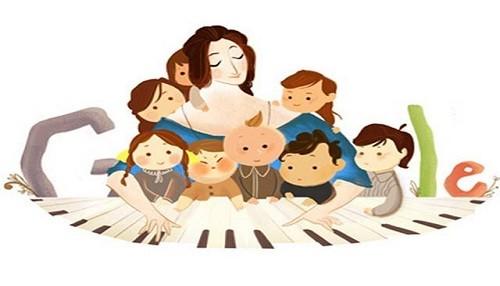 Google le dedica 'doodle' a la pianista Clara Schumann por el aniversario de su nacimiento