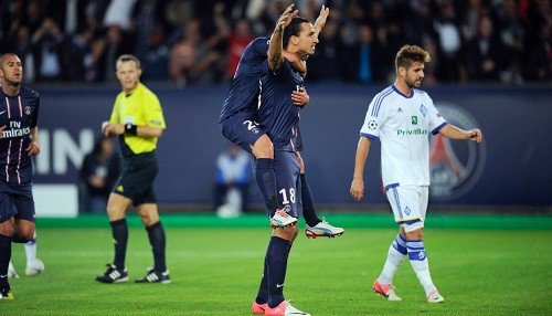 Paris Saint Germain 4 - Dinamo Kiev 1 | Champions League